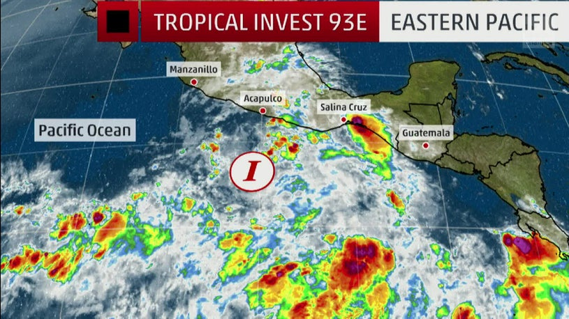 E. Pacific's First Storm of Hurricane Season
