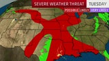 Widespread Severe Threat From South to Appalachians