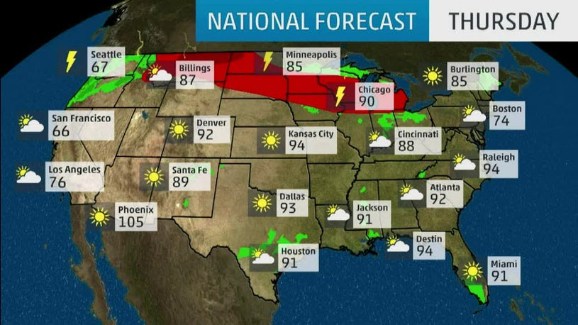 National Forecast And Current Conditions The Weather Channel - Us-current-weather-map