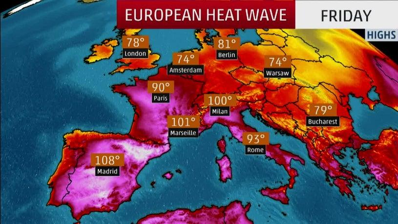Record-Breaking Triple-Digit Heat in Europe