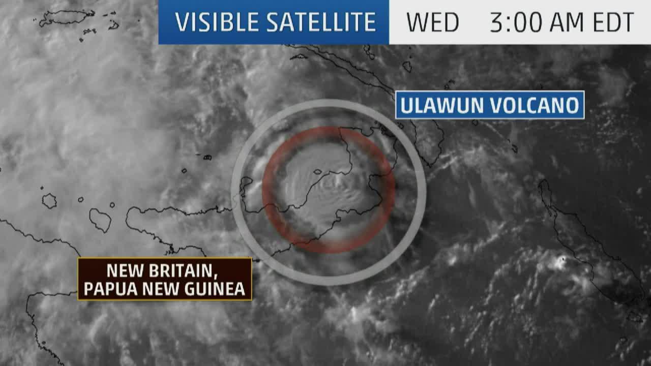 Papua New Guinea Volcano Captured on Satellite