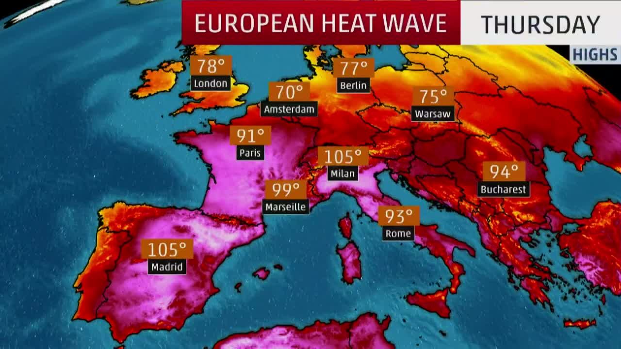 European Heat Wave Shatters June Record