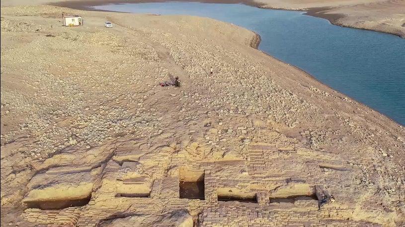 Sensation: Dürre legt jahrtausendealten Palast frei