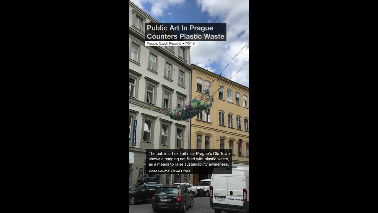 Public Art In Prague Counters Plastic Waste