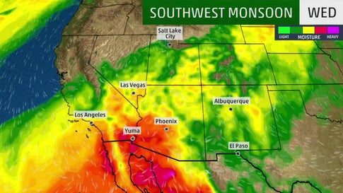 Monsoon Season Gets Underway in the Southwest