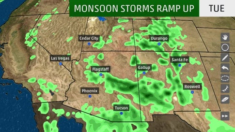 Monsoon Watch: Southwest Thunderstorm Season About to Kick Into Gear