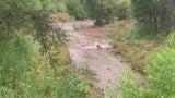 Flash Flood Rushes Down Creek