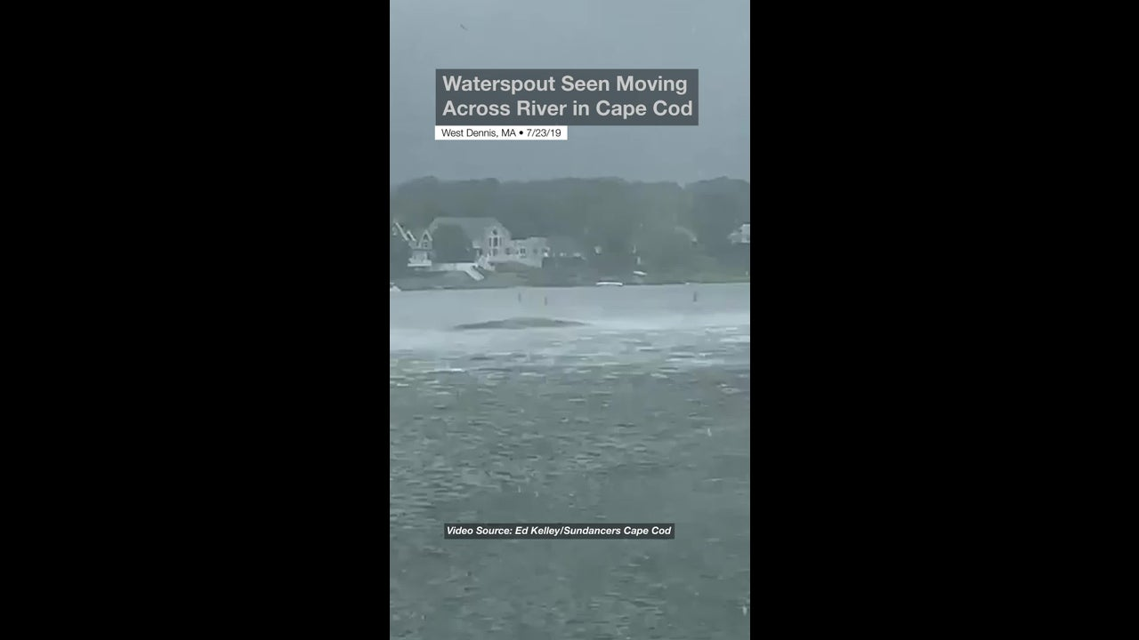 Waterspout Seen Moving Across River in Cape Cod | The Weather Channel