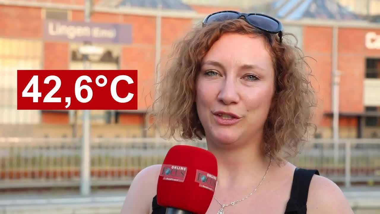 42,6 Grad! So erlebten die Lingener den Rekordtag