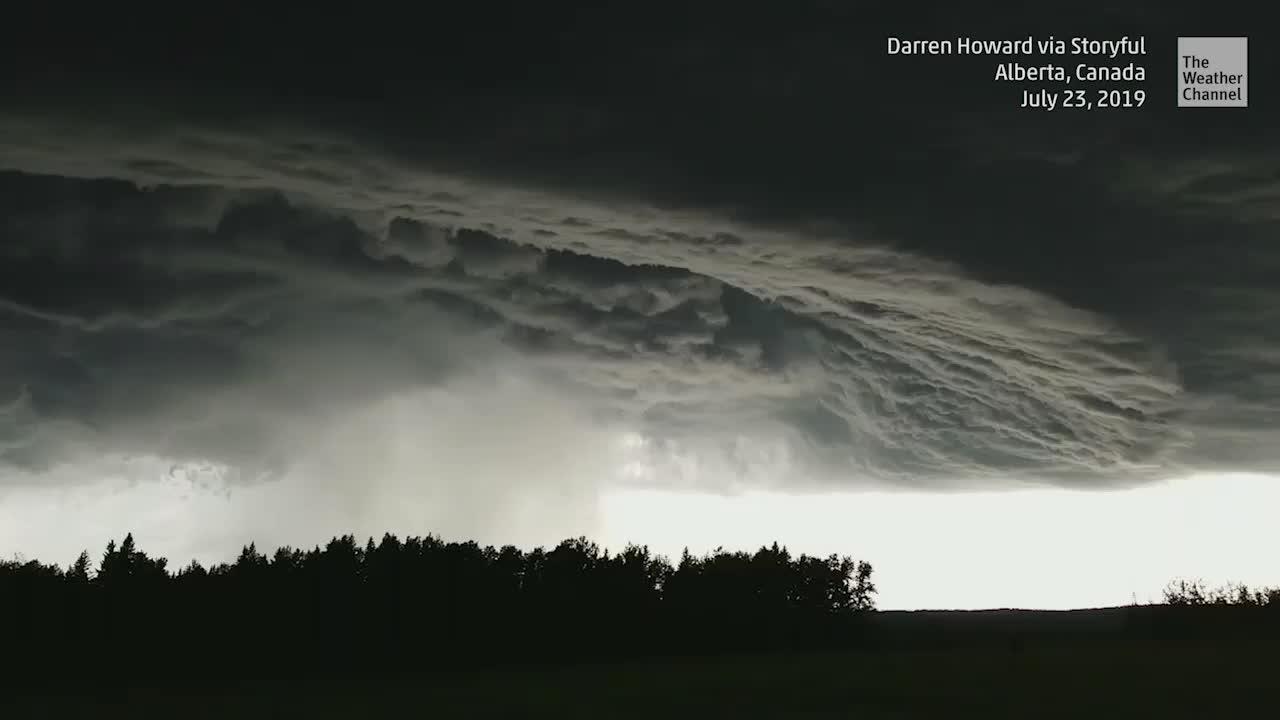 Supercell Swirls Above Alberta, Canada