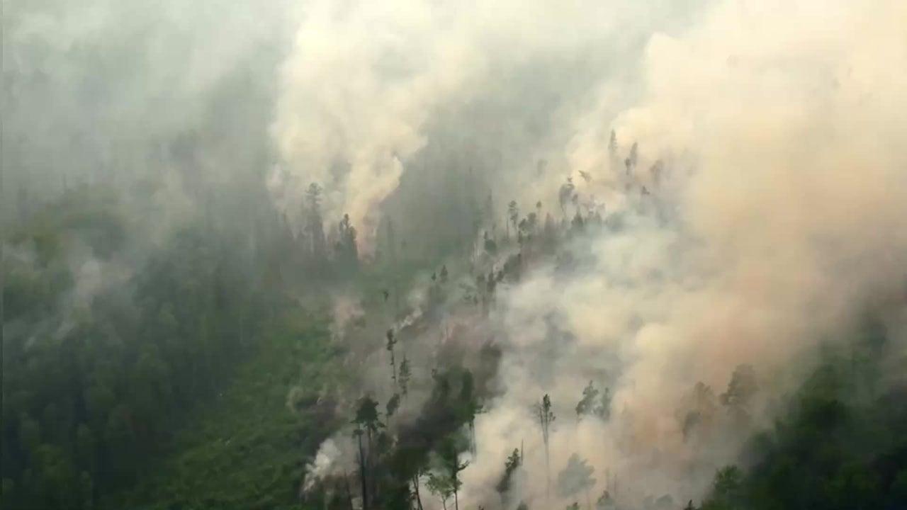 Verheerende Waldbrände wüten in Sibirien