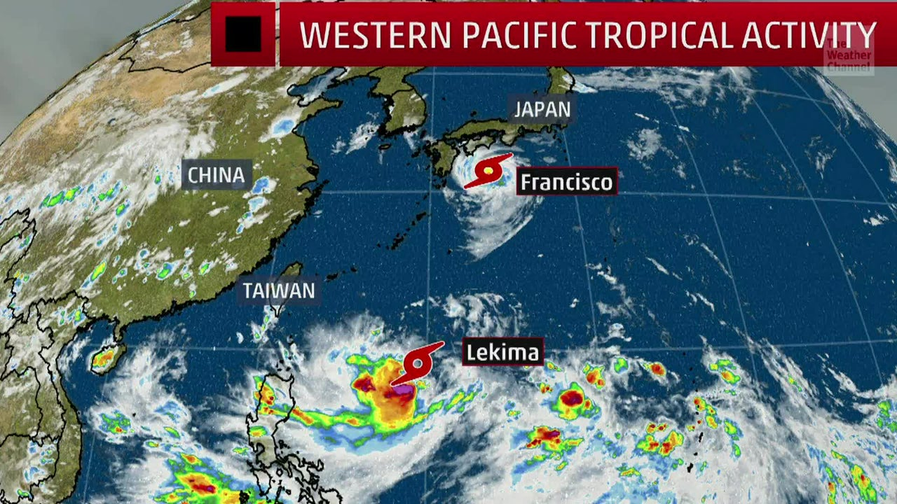 Two Tropical Systems Threatening Japan