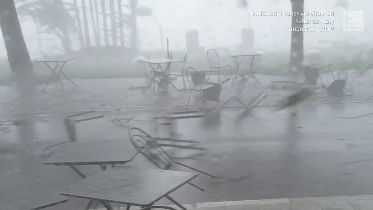 Intense Winds Send Furniture Flying