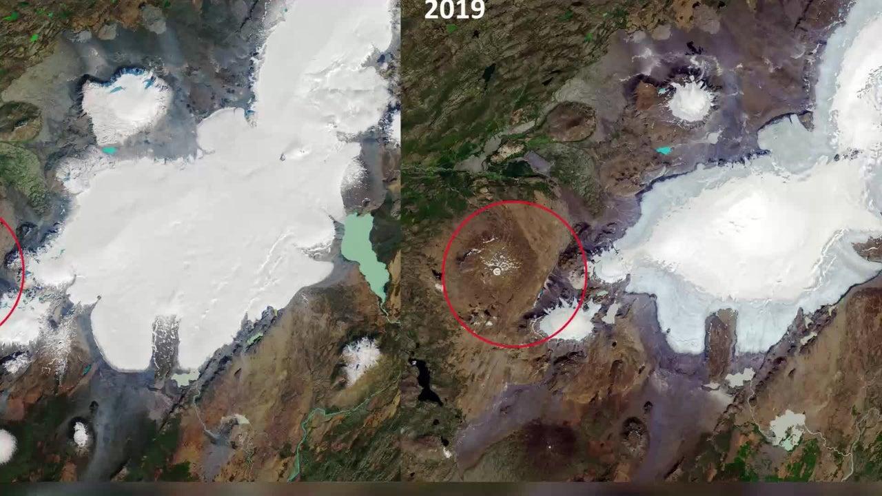 """Mahnender Vorbote! Nasa-Fotos zeigen traurige Wahrheit über """"toten Gletscher in Island"""