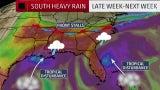 Two Tropical Disturbances Near Florida Means a Rainy Southeast