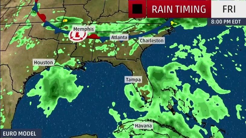 Tropical Disturbances Threaten the South with Rain