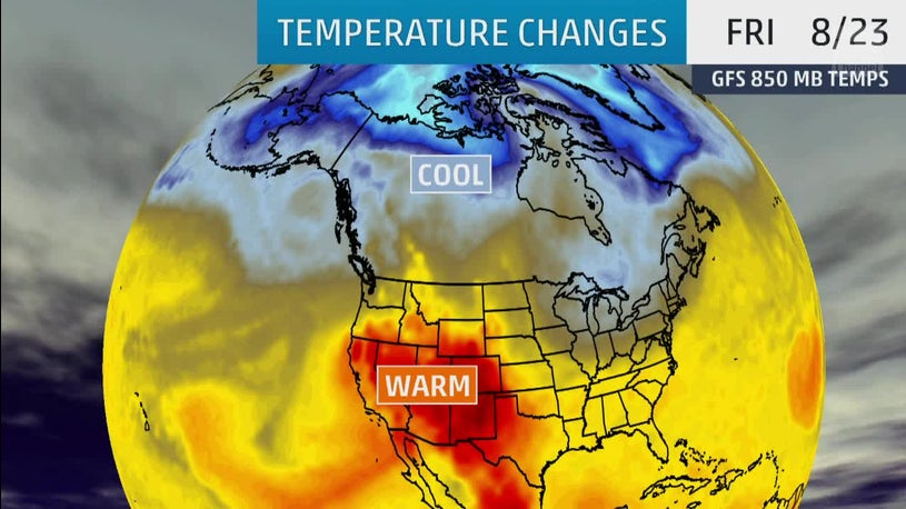 Temperature Plunge Coming Next Week to North, Heat to the West