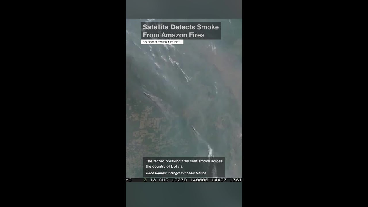 Satellite Detects Smoke From Amazon Fires
