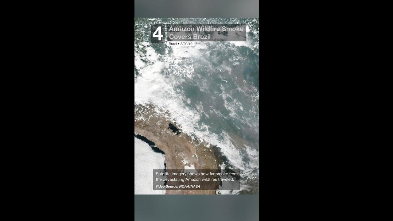 Amazon Wildfire Smoke Covers Brazil