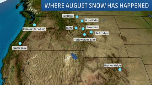 August Snow Has Happened in the U.S. Before