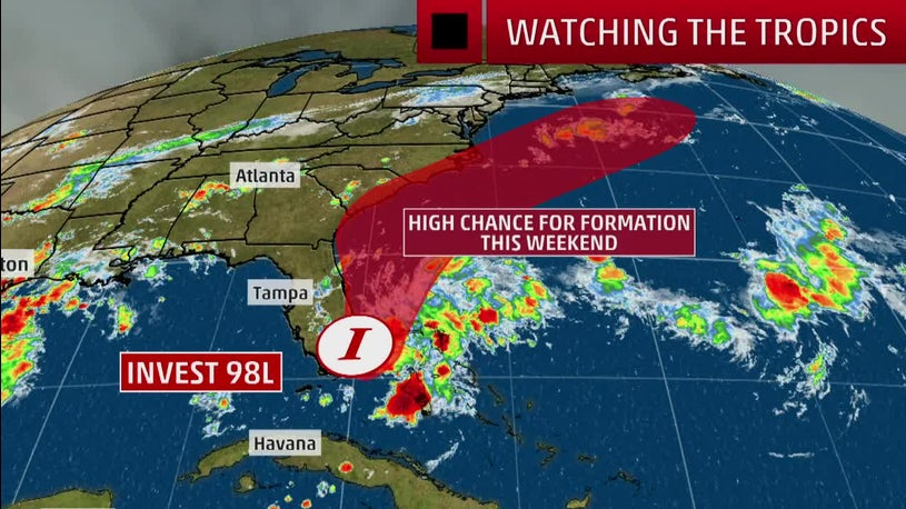 Invest 98L Forecast to Bring Heavy Rain to Southeast Coast