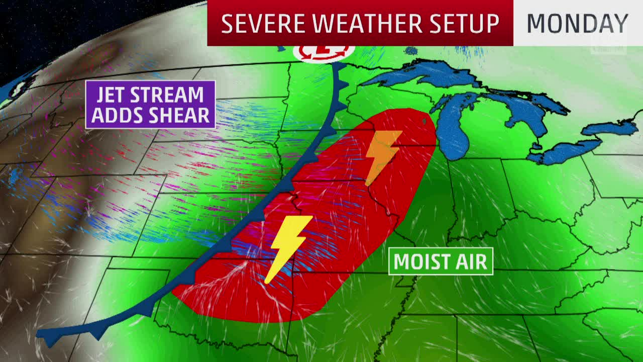 Severe Storms Possible to Start Week