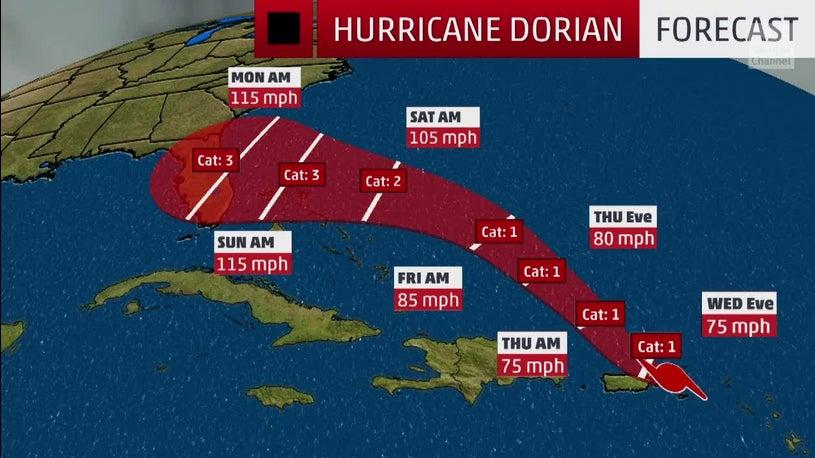 Resultado de imagen para dorian hurricane miami airport