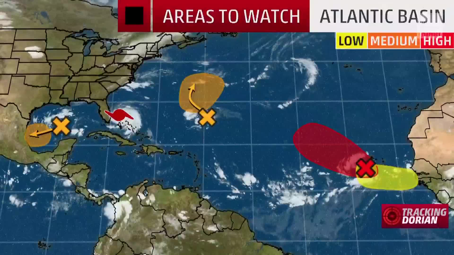 what u0026 39 s after dorian  national hurricane center highlights four areas to watch