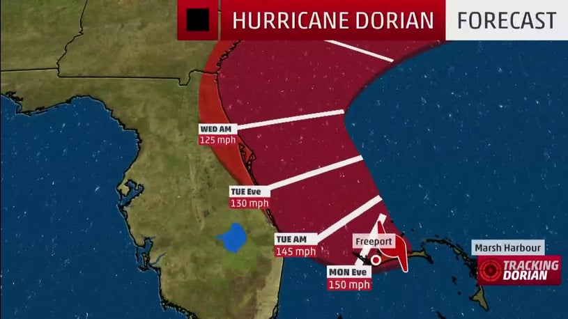 Hurricane Dorian Slowing Down but Growing in Size as System Moves Toward Florida