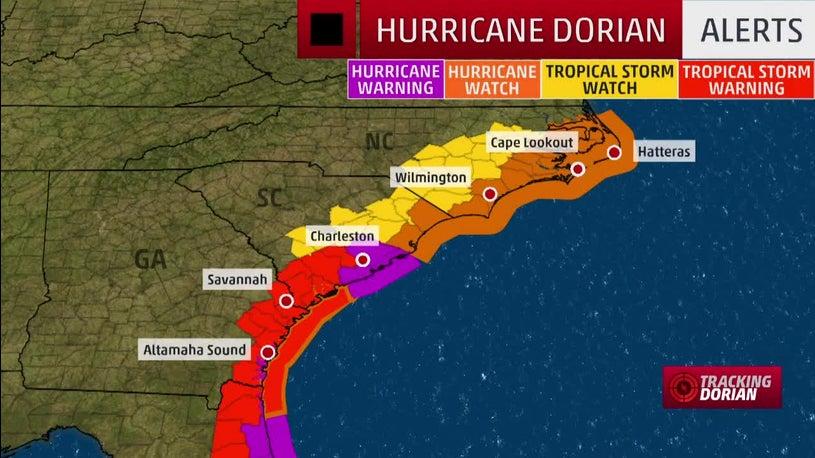 Southeast Prepares for Dorian: Schools Closed, Evacuations