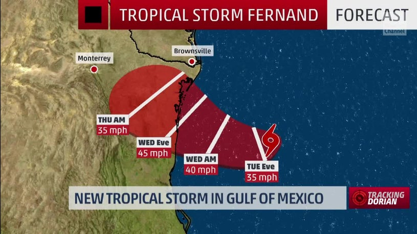 Tropical Storm Fernand Forms in Western Gulf of Mexico