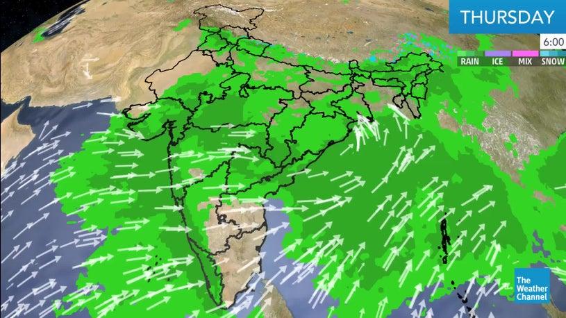 Heavy Rain Forecast over Coastal Southern Gujarat and Inland