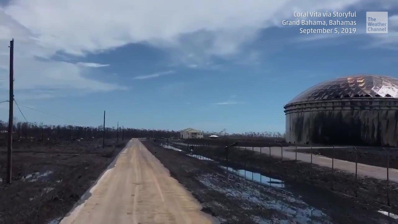 Oil Spill at Dorian-damaged Facility