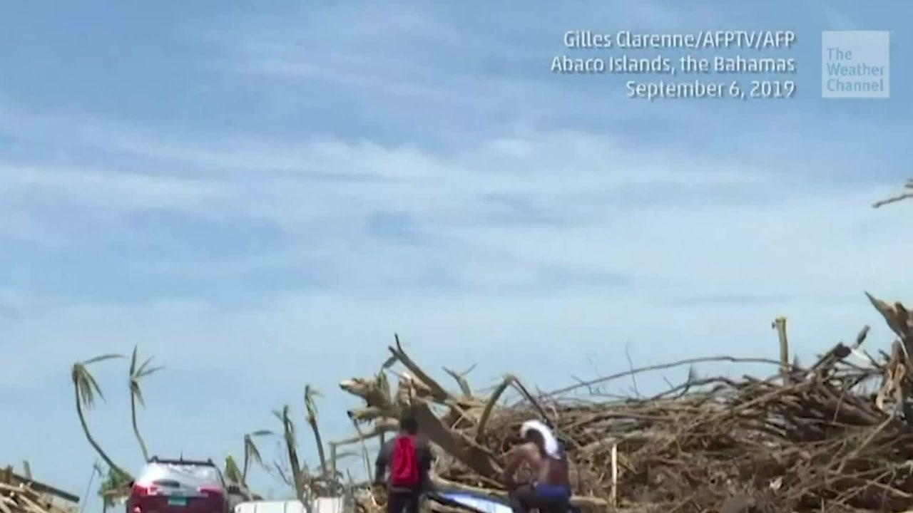 Una vista a Great Abaco, en Bahamas, donde los habitantes buscan comenzar la reconstrucción pese a la devastación histórica causada por Dorian.
