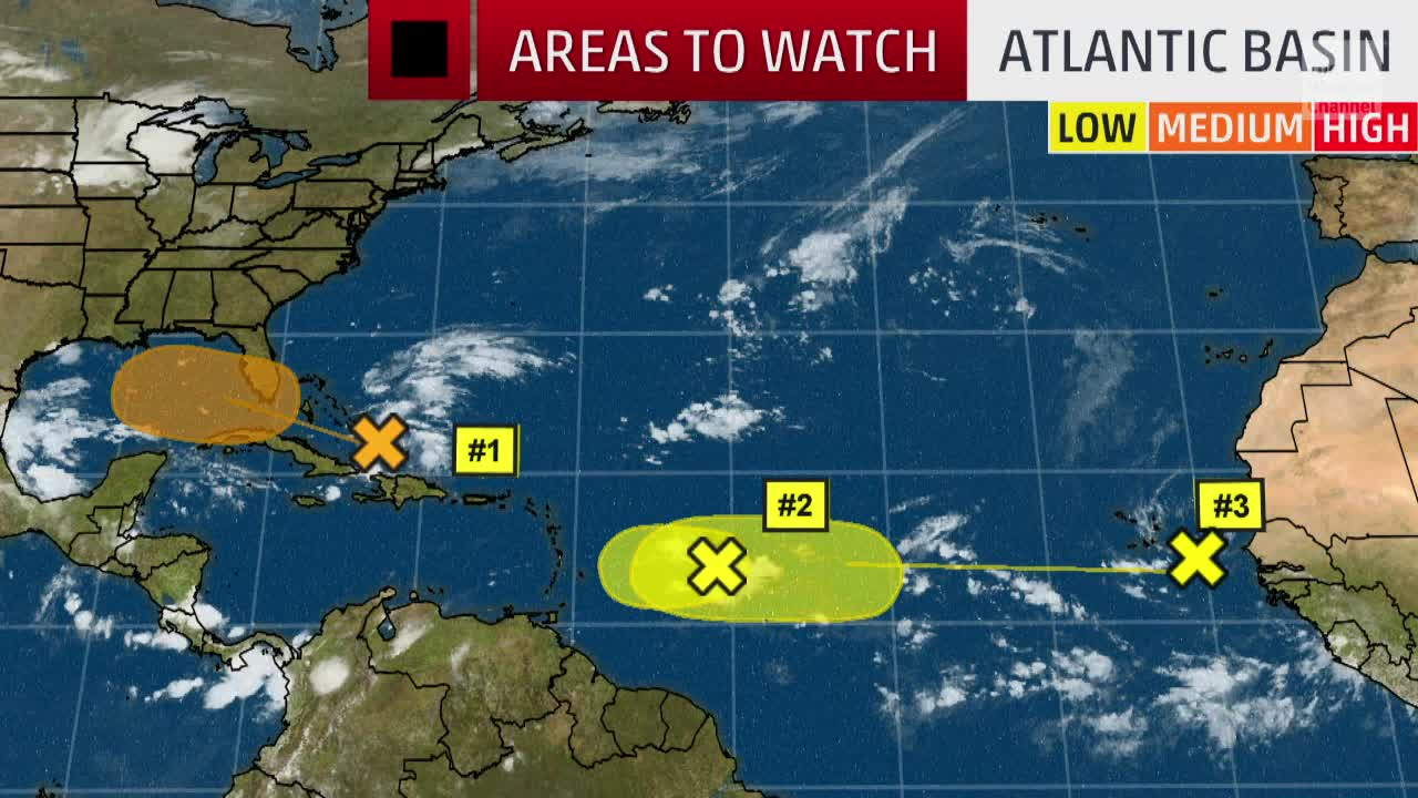 Areas We're Watching in the Atlantic Basin