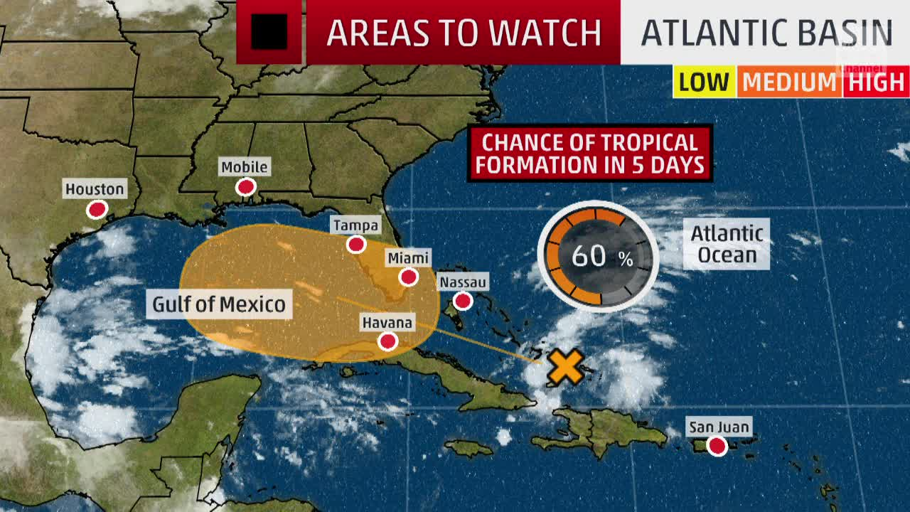 Invest 95L Has a Chance to Develop into a Tropical System