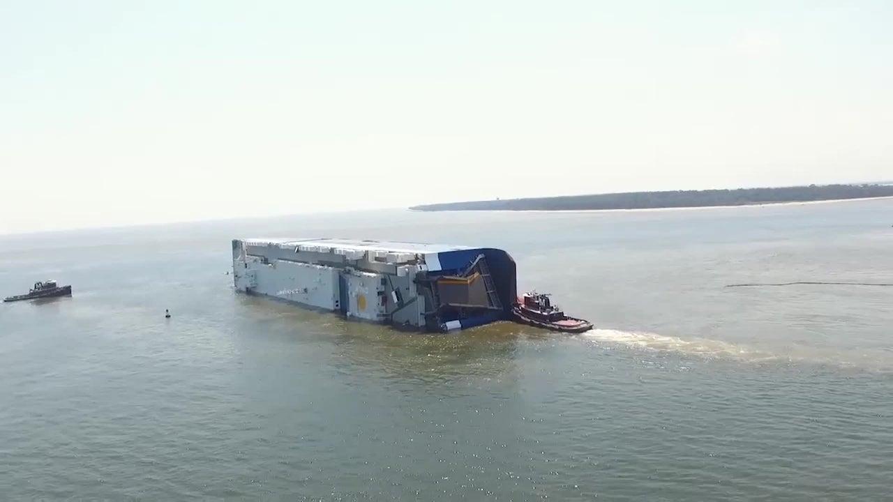 Naufragio de buque de carga cerca de Georgia