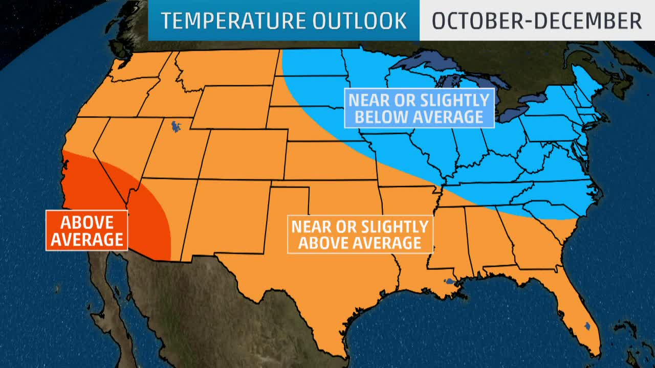 Fall, Early Winter Temperature Outlook is in