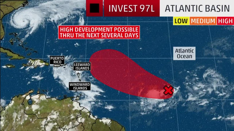 Invest 97L Likely to Develop Into Tropical Depression