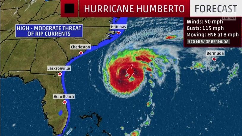 Humberto Expected to Impact Bermuda as Major Hurricane