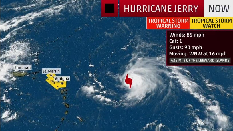 Hurricane Jerry Getting Stronger