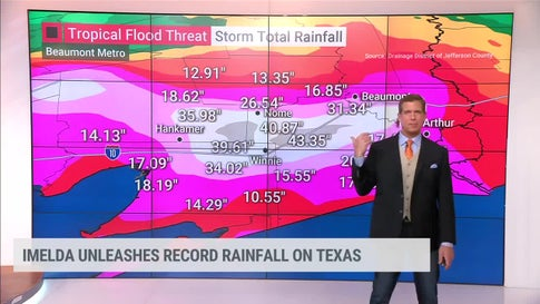 Incredible Rain Totals from Imelda