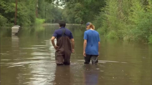 Flooding from Imelda Leaves Homes Under Water Again