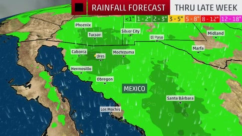 Remnants of Lorena to Bring Rain to Desert Southwest this Week