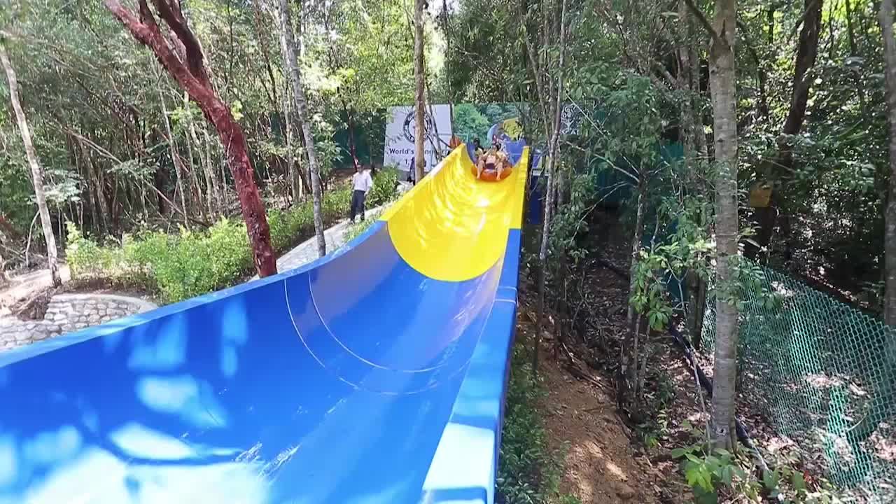 World's Longest Waterslide Takes You Through Malaysian Jungle