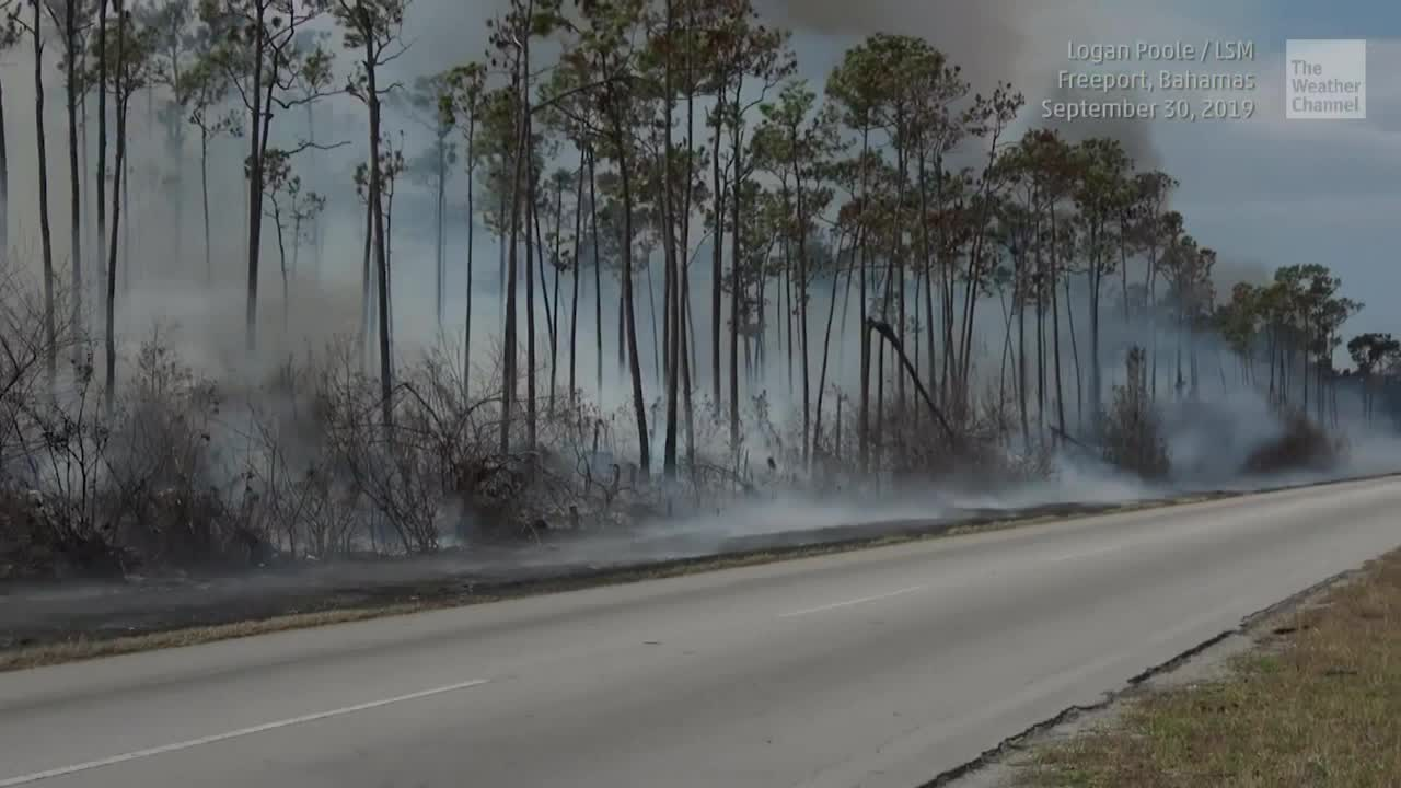 Wildfire Rages on Hurricane Dorian-Ravaged Grand Bahama Island