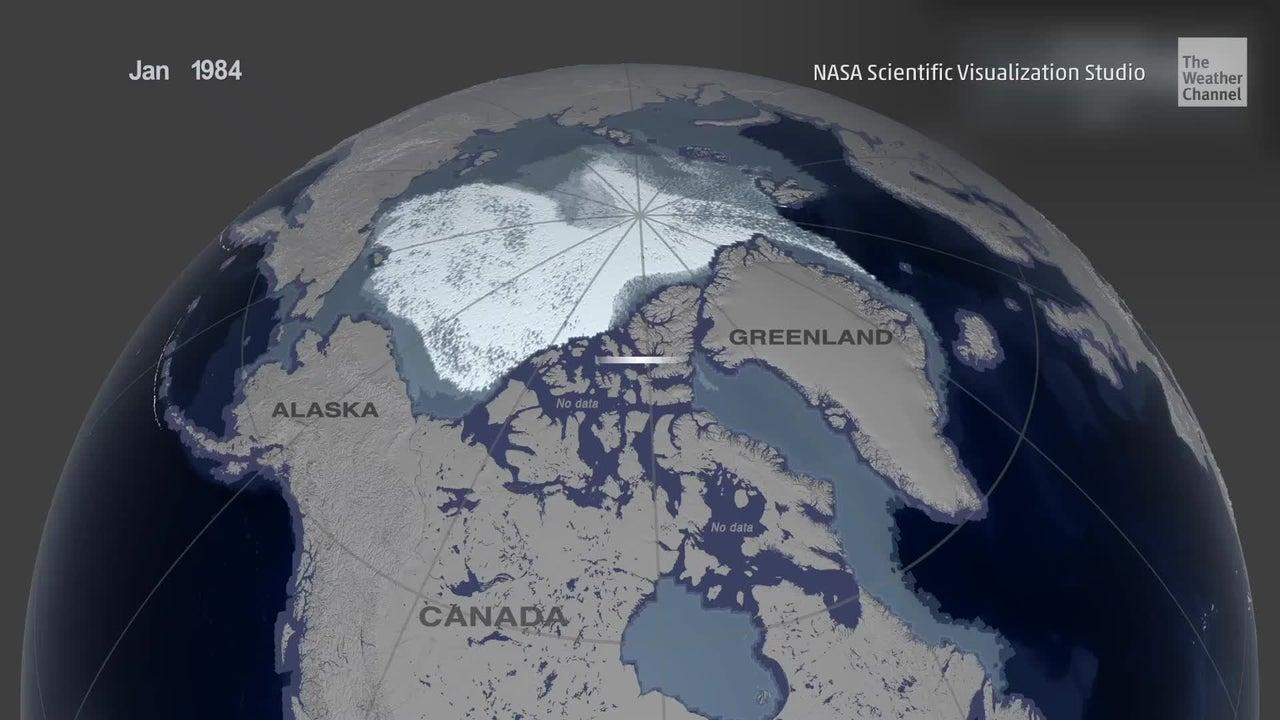 35 años de deshielo en el Ártico en un minuto