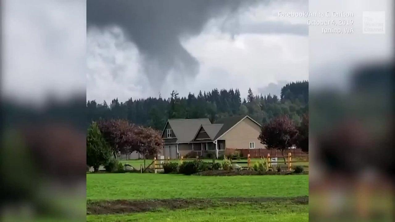 Un raro tornado toca tierra en Washington State