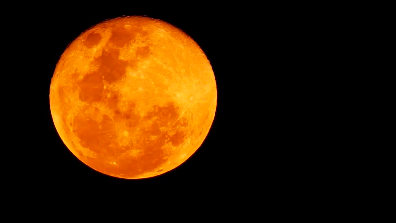 October's Full Moon Will Appear Orange, Enormous in Night Sky