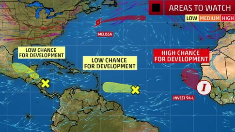 Multiple Areas Are Being Monitored for Tropical Development in the Week Ahead